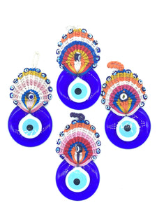 Evil Eye large peecock and   glass eye home accessory #5103