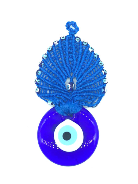 Evil Eye large peecock  glass eye home accessory #5109