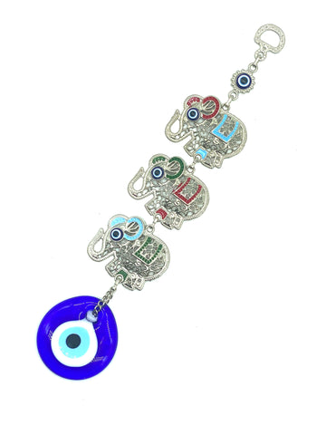 Evil Eye Home Decor with 3 Elephant Wall Hanging #5274