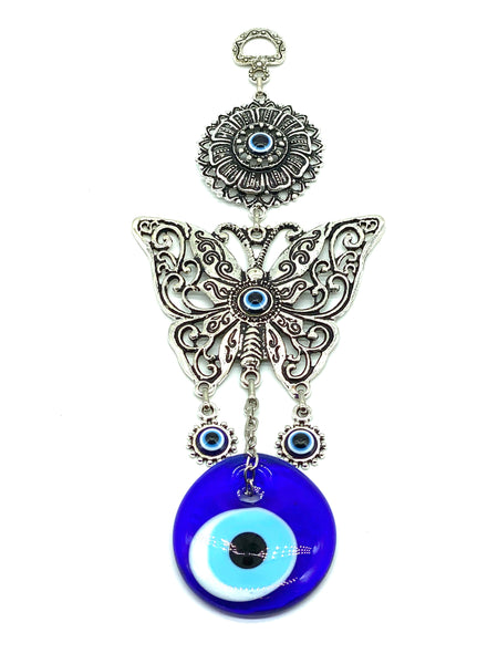 Evil Eye large butterfly a  glass eye home accessory #5084