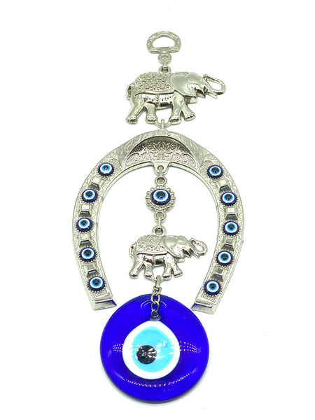 Evil Eye Horseshoe & Glass Evil Eye Wall Decor #5246