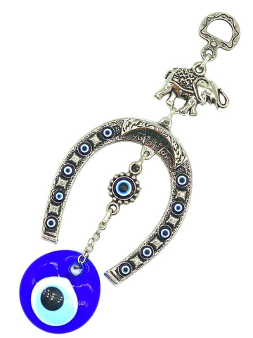 Lucky Evil Eye Horseshoe & Elephant Home Accessory #5250