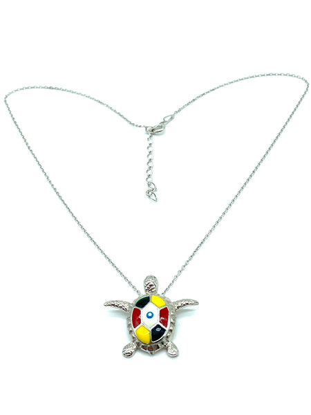 925 Sterling SilverTurtle Evil Eye Necklace & Pendant #9679