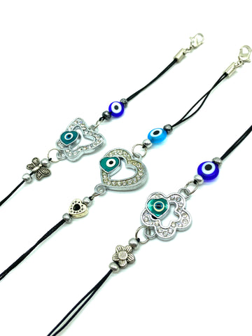 Black Evil Eye Rope Bracelet #2509