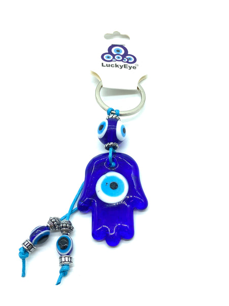 Evil Eye  Glass Hamsa Keychain  #1018