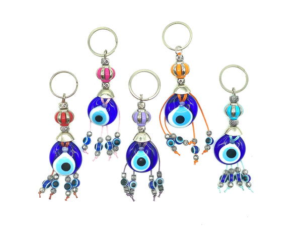 Evil Eye Flower Crown with Glass Eye Keychain #1308