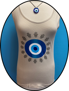 Lucky Eye  Hamsa Tank Top  #8535