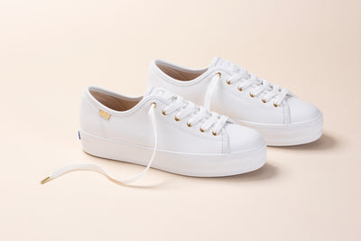Women's Triple Kick Luxe Leather White