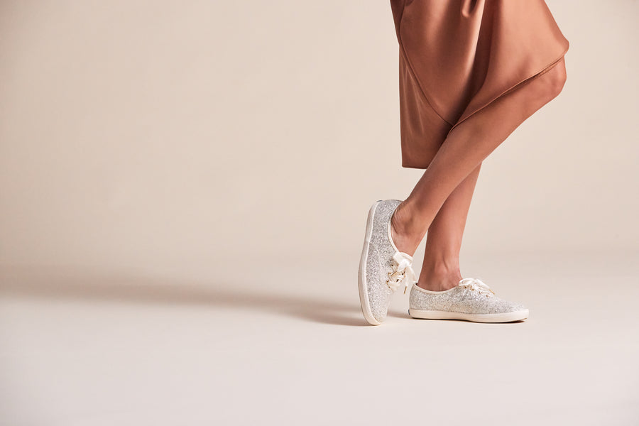 Women's Keds x kate spade new york Champion Glitter Cream