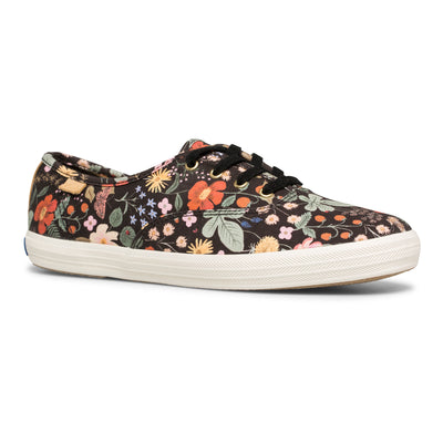 Women's Champion Rifle Paper Co. Strawberry Fields Black Multi Canvas