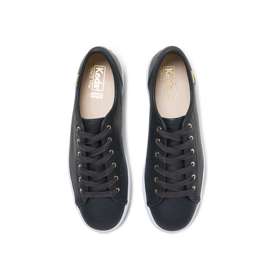 Women's Triple Kick Luxe Leather Black