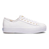 Women's Triple Kick Croc Leather White/Gold
