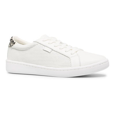 Women's Ace Perforated Leather Cream/Leopard