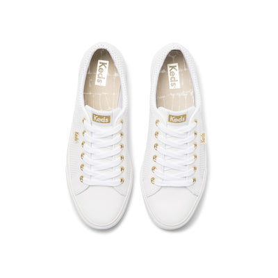 Women's Jump Kick Leather White/Gold