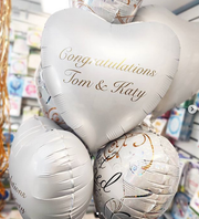 Just Married Personalised Balloon Bouquet in a Box