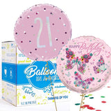 21st Pink Balloon Bundle in a Box