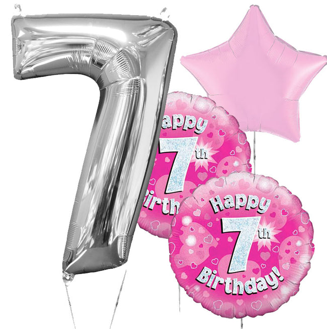 7th Birthday Balloon Bouquet in a Box