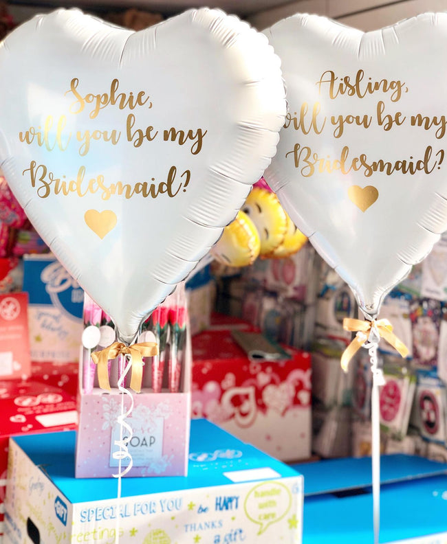 "Personalised 24"" Heart Shaped Balloon in a Box"
