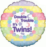 Double Trouble It's Twins Balloon in a Box