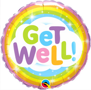 Get Well Rainbow Balloon in a Box