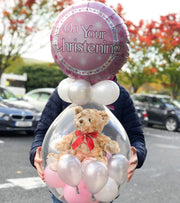 Girl's Christening Stuffed Balloon in a Box