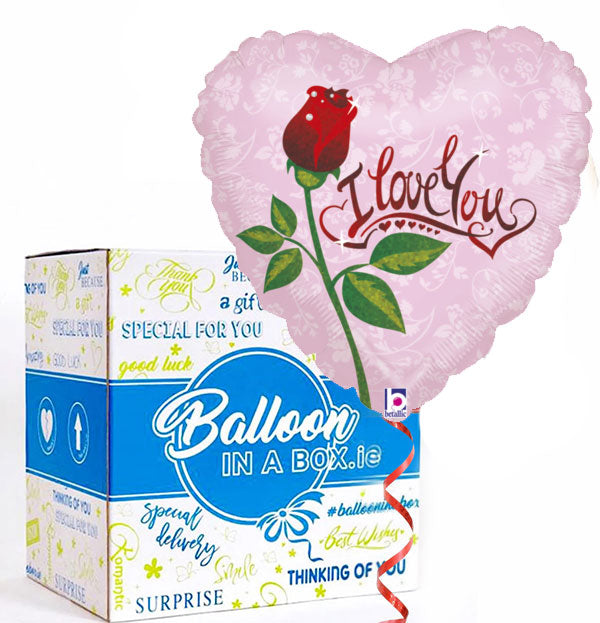 I Love You Helium Balloon in a Box