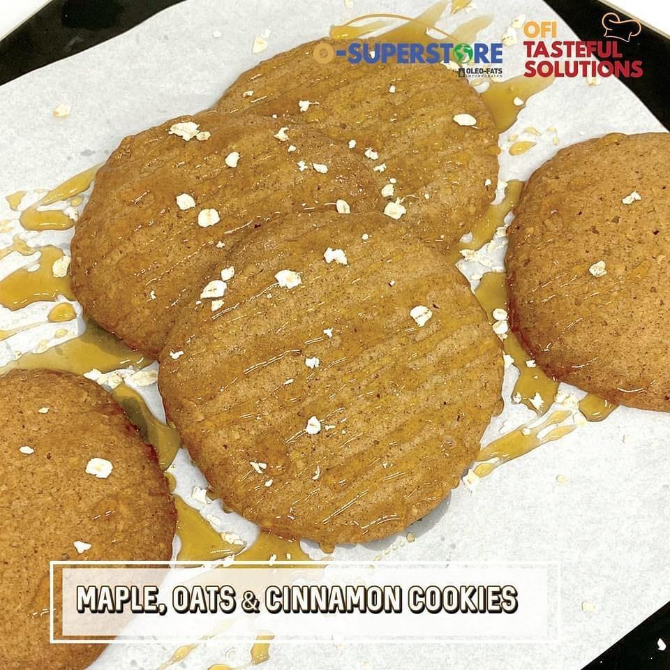 Maple, Oats, & Cinnamon Cookies - O-SUPERSTORE