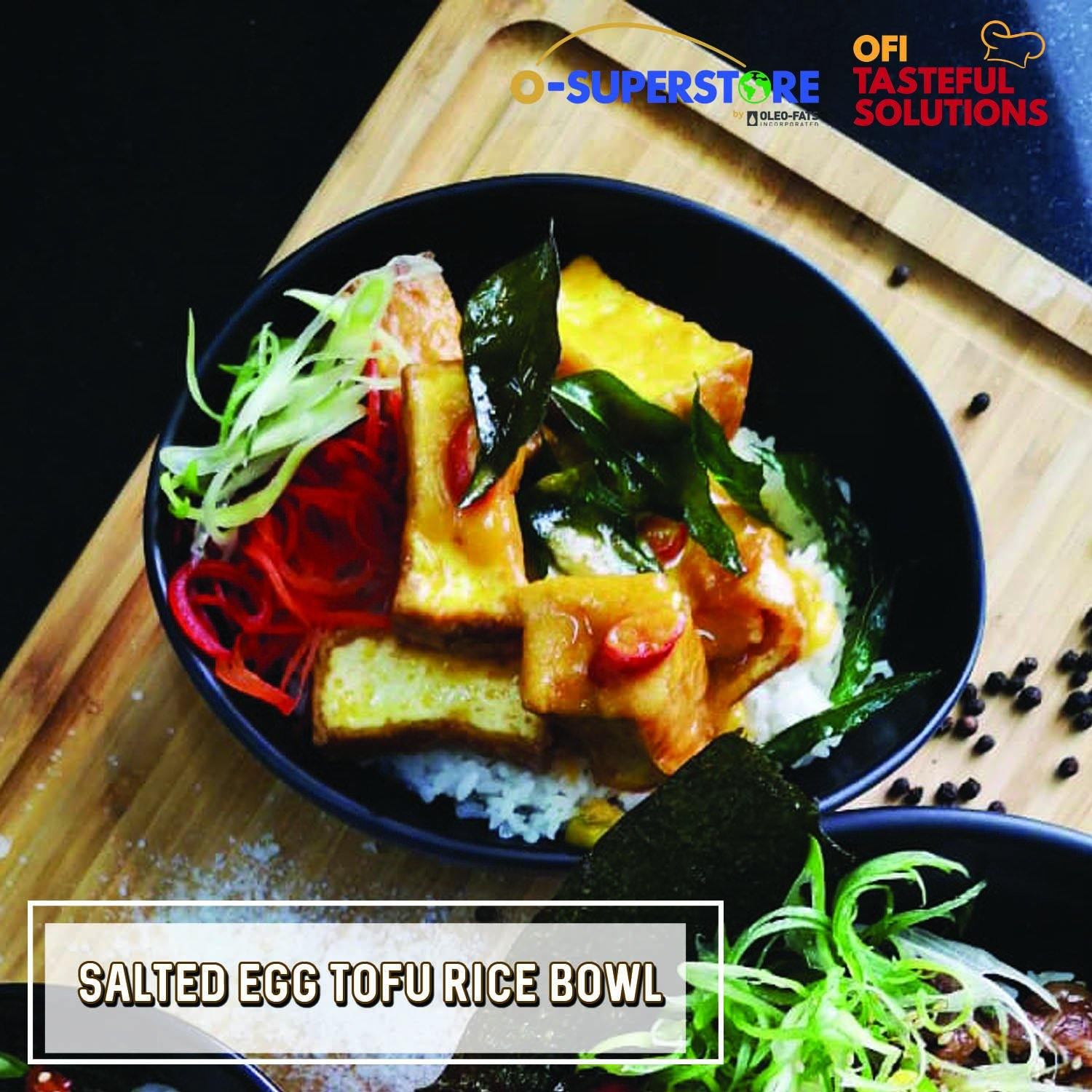 Salted Egg Tofu Rice Bowl - O-SUPERSTORE