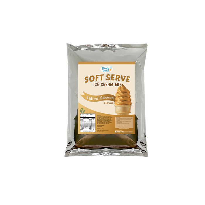 Frosty Delite Salted Caramel Soft Serve Mix 1kg - O-SUPERSTORE