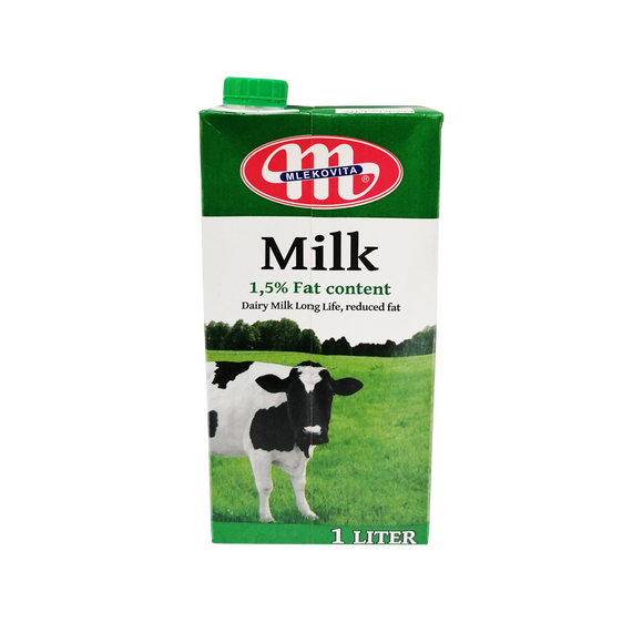 Mlekovita UHT Milk 1.5% (Low Fat)