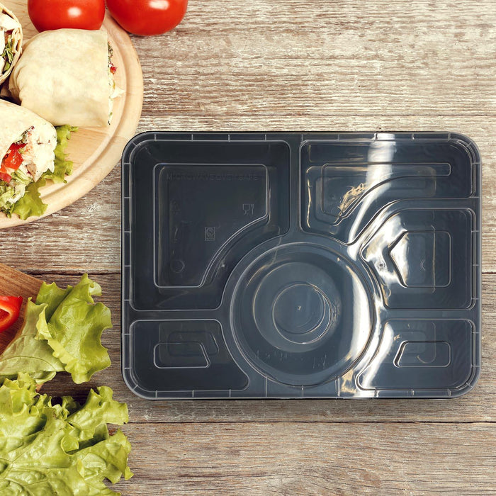 Food Container: Six-Division Lunch Box (Sold by box)