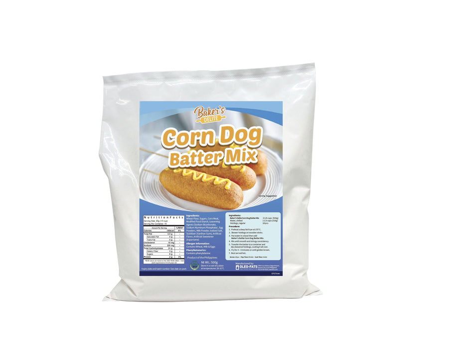 Bakers Delite Corndog Batter Mix 500g - O-SUPERSTORE