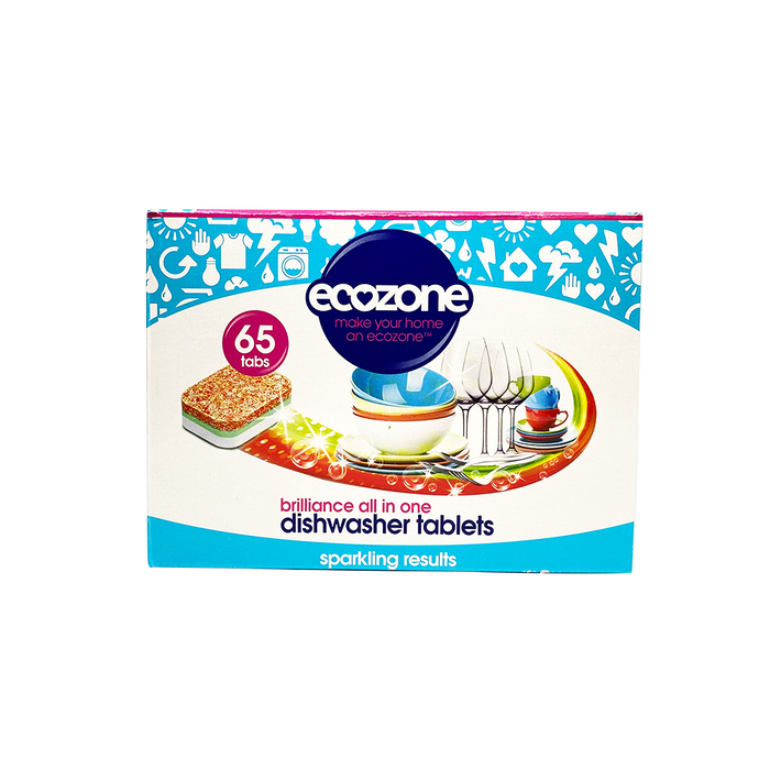 Ecozone Dishwasher Tabs Brilliance (65s) - O-SUPERSTORE