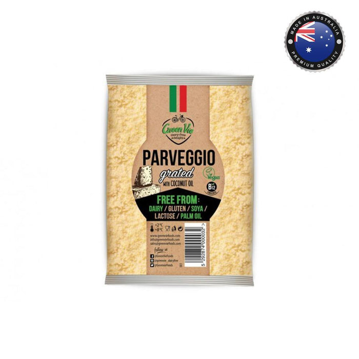 Green Vie Parmesan Flavour Vegan Cheese - Shredded (100g)