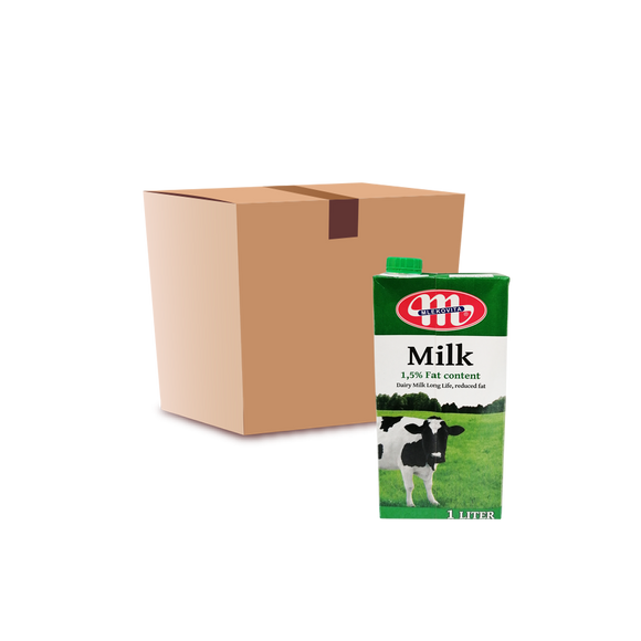 Mlekovita UHT Milk 1.5% (Low Fat) (per case)