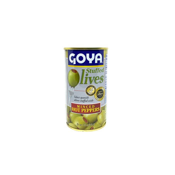Goya Manzanilla Stuffed Olives - Hot Pepper (149g) - O-SUPERSTORE