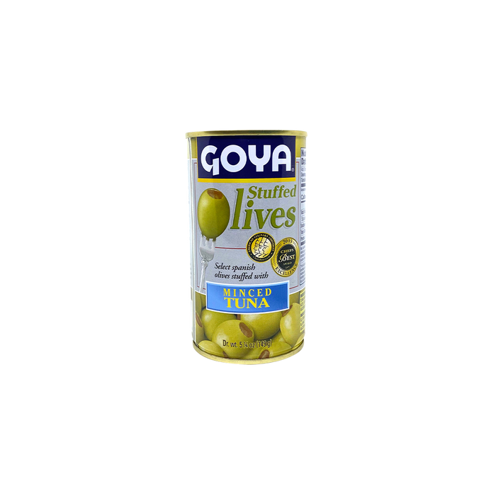 Goya Manzanilla Stuffed Olives - Tuna (149g) - O-SUPERSTORE