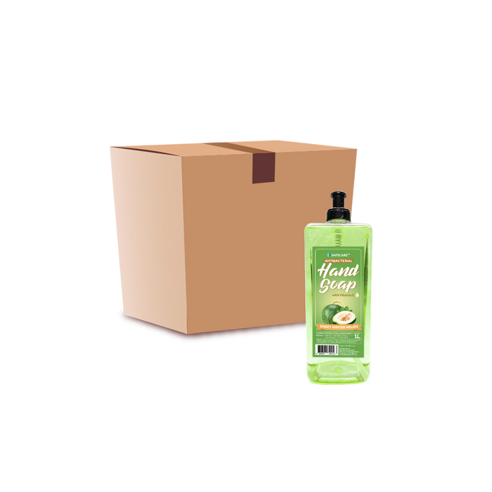 Safecare Antibacterial Hand Soap Sweet Wintermelon (1L) - Case - O-SUPERSTORE