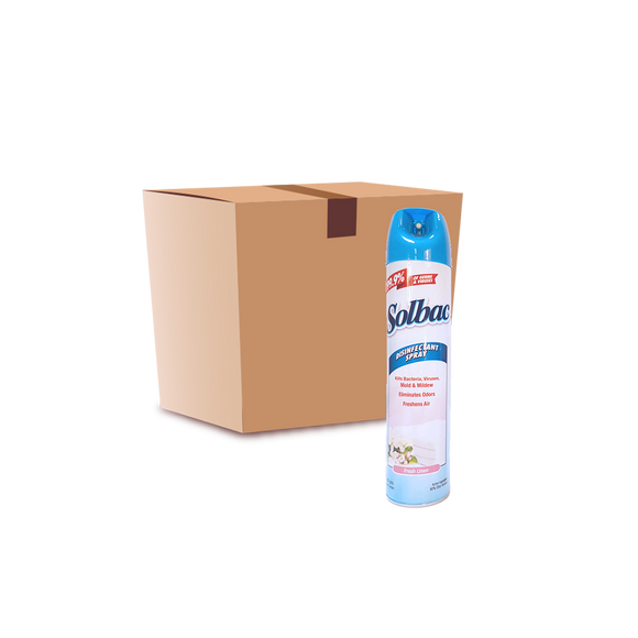 Solbac Disinfectant Spray - Fresh Linen 12x400g