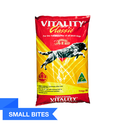 Vitality Classic - Small Bites (15Kg) - O-SUPERSTORE