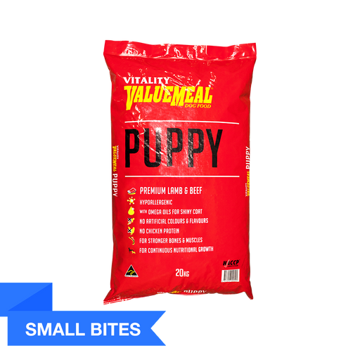 Vitality ValueMeal Puppy - Small Bites (20Kg) - O-SUPERSTORE