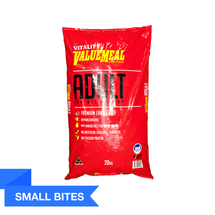 Vitality ValueMeal Adult - Small Bites (20Kg) - O-SUPERSTORE