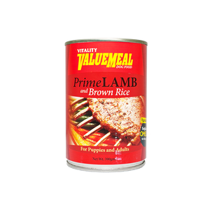 Vitality ValueMeal Prime Lamb & Rice - Canned (390g)