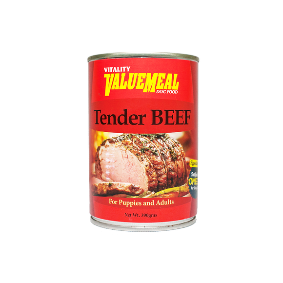 Vitality ValueMeal Tender Beef - Canned (390g)