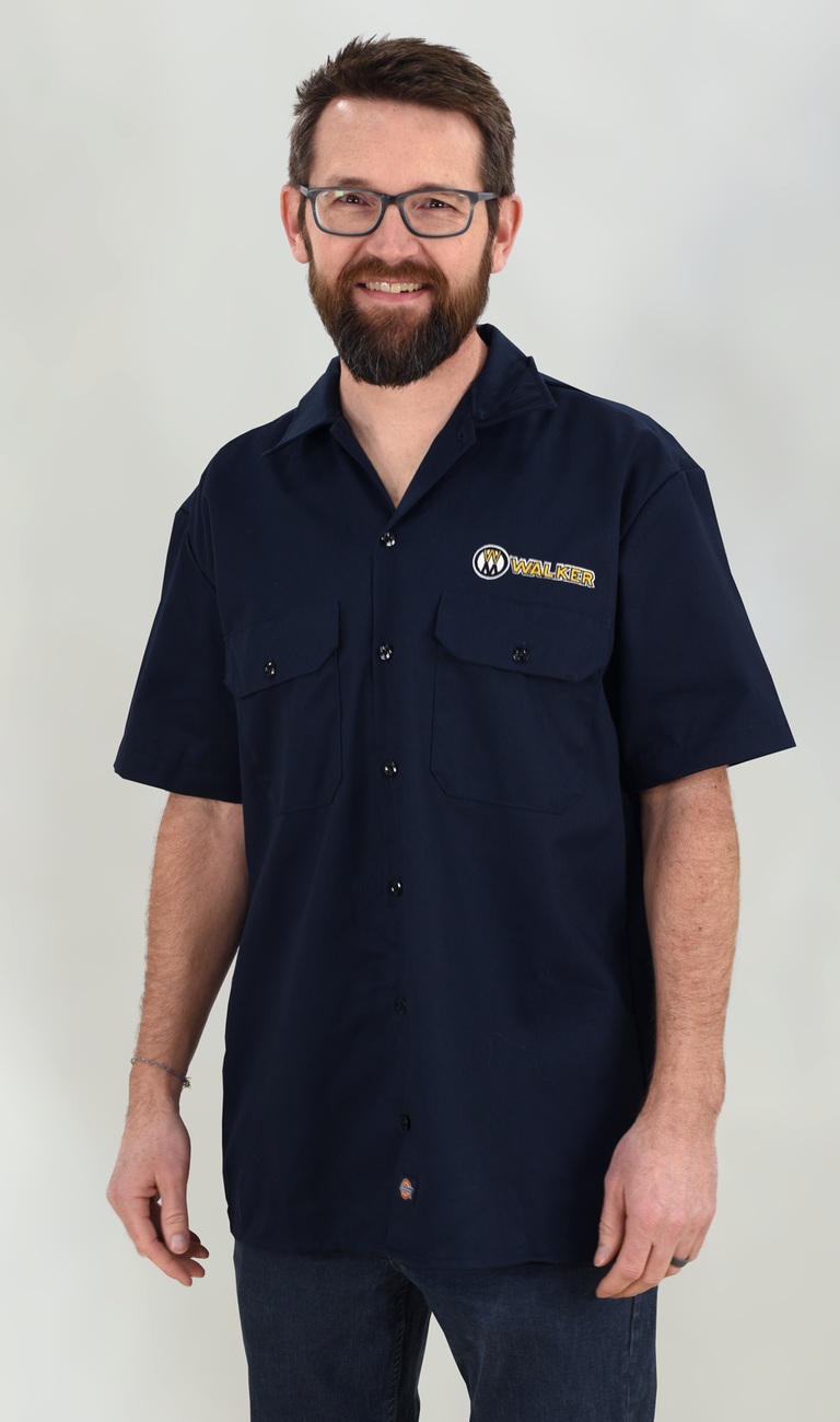 Navy Dickies FLEX Relaxed Fit Work Shirt