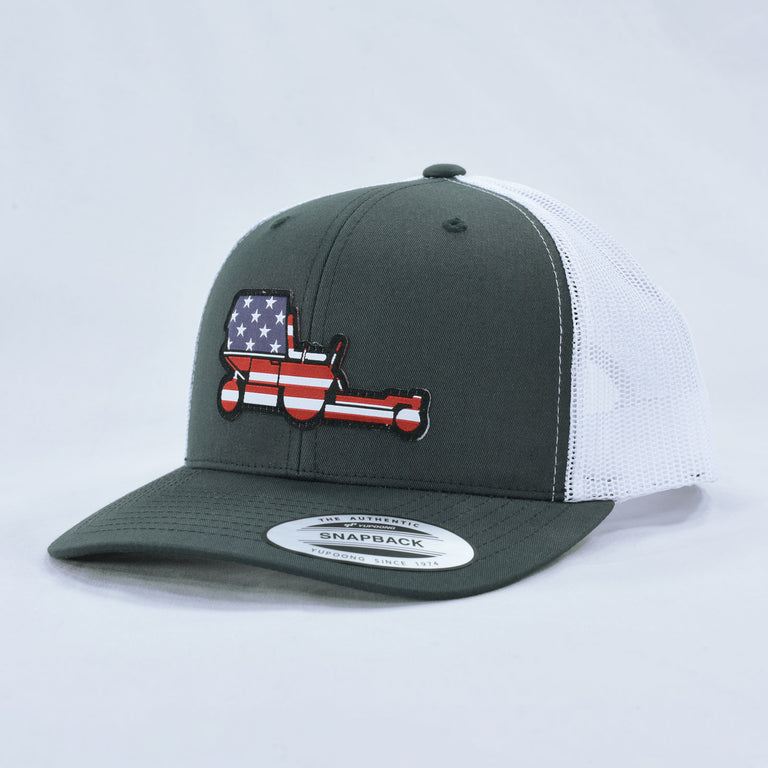 American Flag Mower Trucker Hat