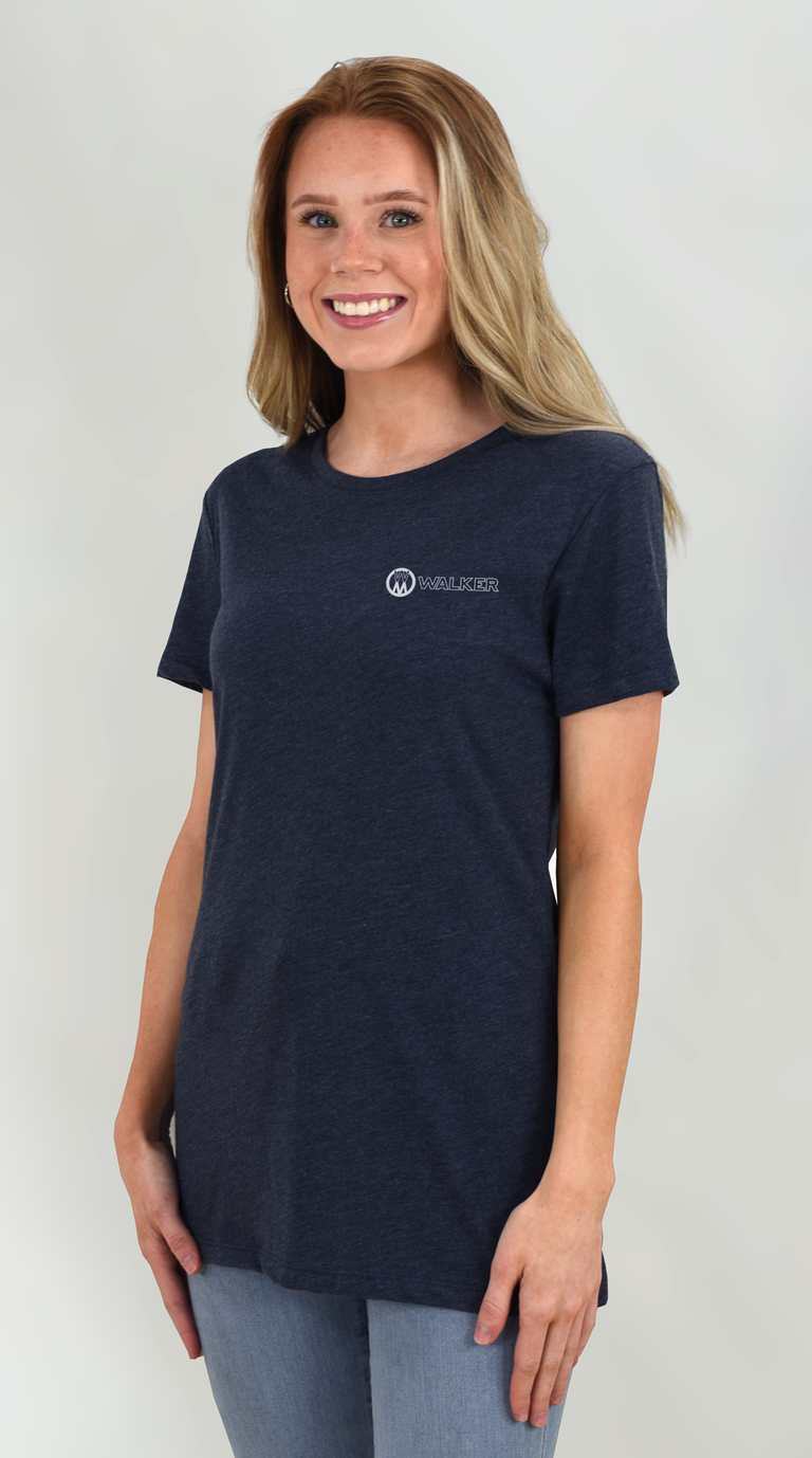 Ladies Navy Triblend Tee