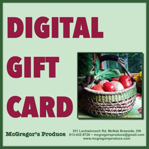 McGregor's Produce Gift Card