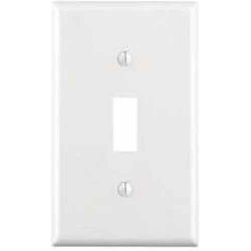 VISTA SINGLE GANG TOGGLE SWITCH PLATE - WHITE-VISTA-VISTA-Default-Covalin Electrical Supply