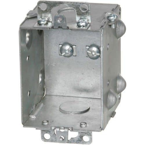 1204-1-HV - 347V 2½ DEEP GANGABLE BOX W/MOUNTING EARS & KNOCKOUTS-VISTA-VISTA-Default-Covalin Electrical Supply